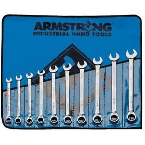 Armstrong Metric Ratcheting Combination Wrench 12 Point Reversible Made In Usa