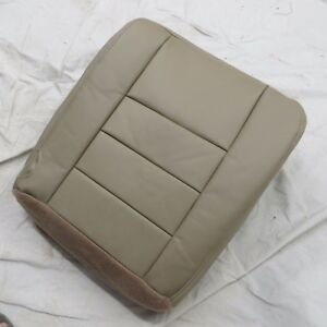 03 07 Ford Excursion Pickup 4 Door Passenger Bottom Vinyl Seat Cover Tan