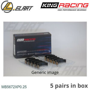 King Racing Main Shell Bearings Mb5672xp 0 25 Oversize For Ford 2 0