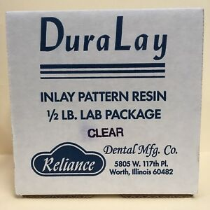 Duralay Inlay Pattern Resin 1 2 Lb Kit Clear