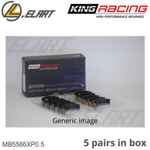 King Racing Main Shell Bearings Mb5566xp 0 5 Oversize For Audi Vw 1 8