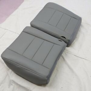 03 07 Ford Excursion Driver passenger Gas Pickup Bottom Vinyl Seat Cover Gray