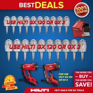 Hilti X gn 32 Mx 1 1 4 Collated Nail For Concrete Box With 750 Fast Ship