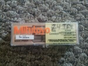 Mitutoyo 24 Tpi Thread Pitch Diameter Measuring Wire And Holder Free Shipping