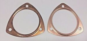 Pair 2 3 1 2 Reusable Copper Header Collector Exhaust Replacement Gaskets