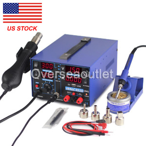 3in1 For Yihua 853d Usb 2a Dc Power Supply Hot Air Gun Soldering Rework Station