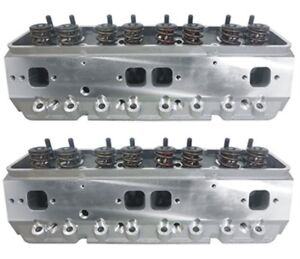 Precision Race Cylinder Heads Small Block Chevy W 600 Lift Springs Sbc 350 383