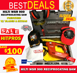 Hilti Wsr 900 Reciprocating Saw Preowned w Blades Extras Quick Ship