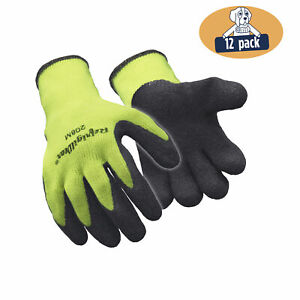 Refrigiwear Hivis Ergo Grip Latex Coated Work Gloves High Visibility 12 Pairs