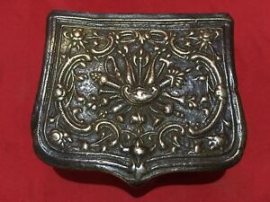 Antique Bronze Ottoman Powder Cartridge Box Palaska Islamic Turkish 1820 1830
