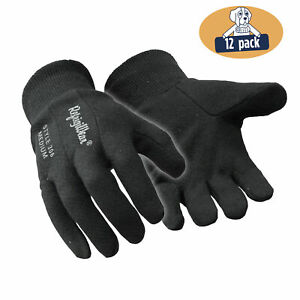 Refrigiwear Insulated Tricot Lined Cotton Jersey Knit Work Gloves 12 Pairs