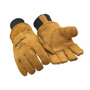 Refrigiwear Warm Fleece Lined Fiberfill Insulated Cowhide Leather Work Gloves