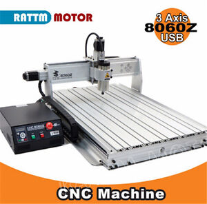 3 Axis Usb Mach3 8060 2 2kw Cnc Router Cutting Engraving Milling Machine 110v