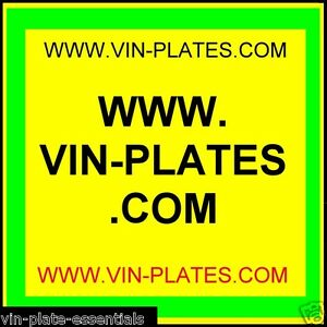 Vin plates com Trailers org uk All blank vin chassis plates Id Land Rover Car