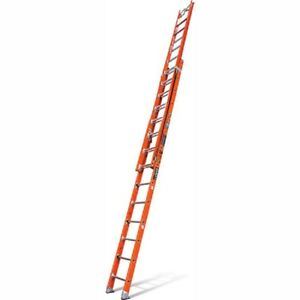 New Fiberglass Extension Ladder W Cable Hook v Rung 32 Type 1aa