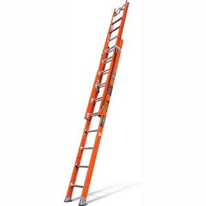 New Fiberglass Extension Ladder W C hook claw levelers 24 Type 1aa