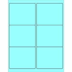 Partners Brand Pll180be Rectangle Laser Labels 4 X 3 1 3 Pastel Blue pack
