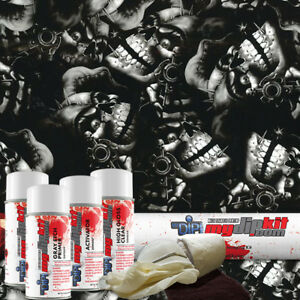 Hydrographic Film Kit Hydro Dipping Water Transfer Printing Gangster Joker Dd926