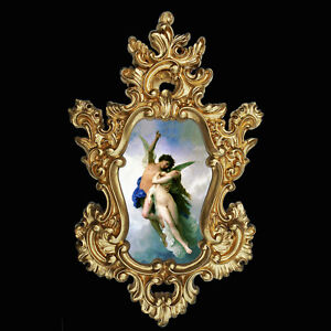 Eros And Psyche In Baroque Frame Var 3 Wall Decor