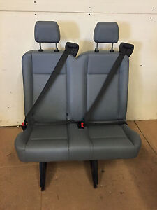 2015 2016 2017 2018 Ford Transit Van 2 Person Seat Gray Vinil Inv 3 W Brackets