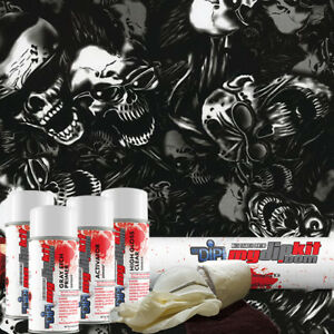 Hydro Dipping Water Transfer Printing Hydrographic Dip Kit Smokin Skulls Dd 947