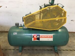 Industrial Air Compressor Hrv10 12 10 Hp 120 Gal 3 Phase Start stop 230 Volt
