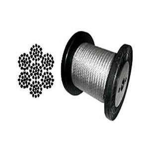 Cable Railing Type 316 Stainless Steel Wire Rope Cable 1 4 7x19 Coil