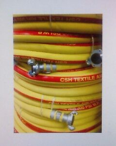 Csh Yllw red Jackhammer Air Hose Assembly 3 4 X 100 W chicago Style Fittings