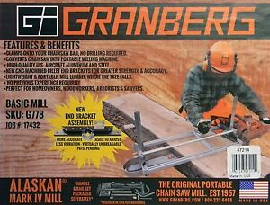Granberg Alaskan G776 G781 30 Portable 30 Chainsaw Saw Mill Sawmill Chain Saw