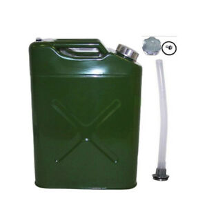 5 Gal 20l Eu Gas Gasoline Fuel Army Jerry Can Military Metal Steel Tank Storage