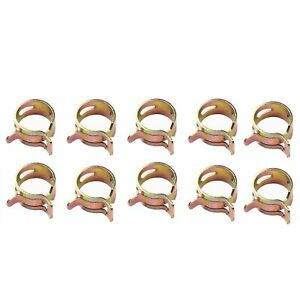 Id 1 4 6 Mm Spring Clip Vacuum Fuel Oil Hose Line Band Clamp Low Pressure 10 Pc