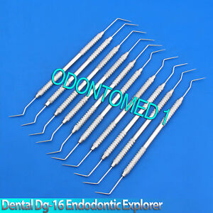 X10 Dental Dg 16 Endodontic Explorer Hygienist Perio Diagnostic Pick Probes Lab