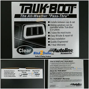 Auto Line Truk Inflatable Boot Camper Shell Topper Cap Seal Mid Size Import 2000