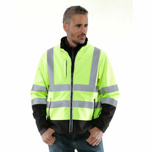 Refrigiwear Men s High Visibility Softshell Safety Jacket With Reflective Tape