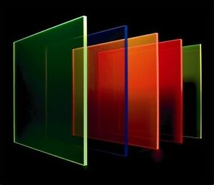 Fluorescent Perspex Sheet 3mm X 297mm X 210mm a4 Bulk Pack 5 Sheets 5 Colours