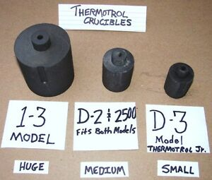 Massive Size Rarest Thermotrol Model 1 3 Mint Nos Graphite High Temp crucible