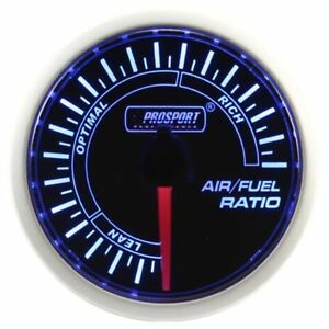 Prosport 52mm Blue White Led Smoke Face Air Fuel Ratio Gauge