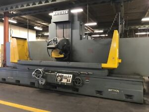 24 X 84 Mattison large Series Hydraulic Surface Grinder With Automatic Inc