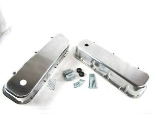 Big Block Chevy Smooth Aluminum Valve Covers W Hole Tall 454 Polished Bpe 2103