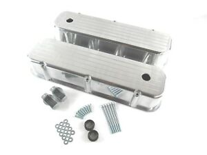 Bbc Ball Milled Aluminum Big Block Chevy 454 Tall Polished Valve Covers Bpe 2105