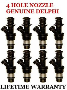 8x Upgrade Delphi 4 Hole Fuel Injectors For Chevy Gmc 8 1l Increased Performance