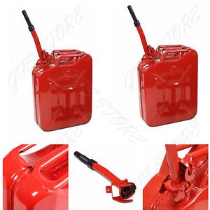 2 Jerry Can 5 Gallon 20l Gas Gasoline Fuel Army Nato Military Metal Steel Tank
