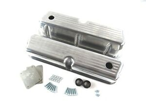 Small Block Ford 289 302 Valve Cover Ball Milled Tall Polished Aluminum Bpe 2204