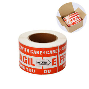 1 Roll 3 x5 Fragile Stickers For Handle With Care Shipping Labels 500 roll