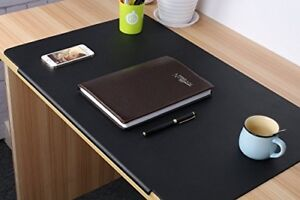 Large Desk Pads Artificial Leather Laptop Mat With Fixation Lip For Office Home