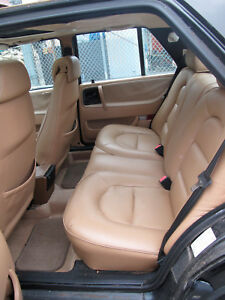 1991 Saab 9000 Tan Leather Seat Rear Very Good Condition