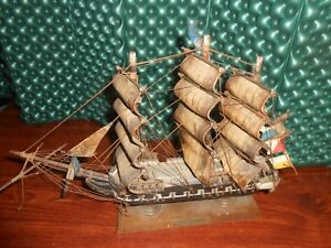 Vintage Wood Model Uss Constitution Ship 15