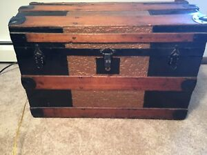 1890 S Steamer Trunk Antique Vintage Trunk