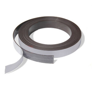 jf One Side Self Adhesive Weak Magnetic Tape Magnet Strip Width 10 15mm