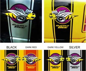 1500 2500 Dodge Ram Bee Super Decals Rumble Bee Rear Side Stripes Racing Sport